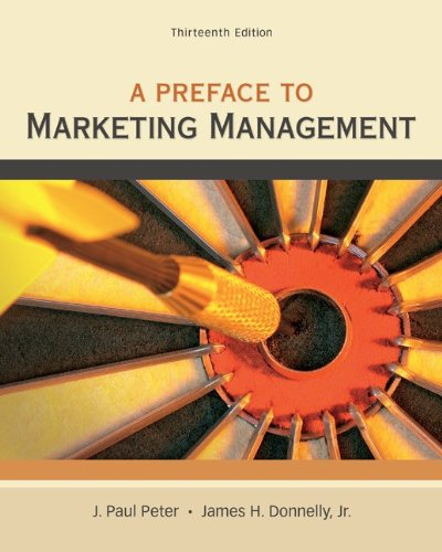 A Preface to Marketing Management 9780078028847