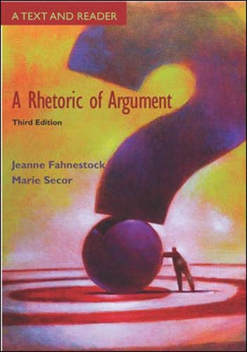 A Rhetoric of Argument: Text and Reader with Catalyst Access Card 9780072938234