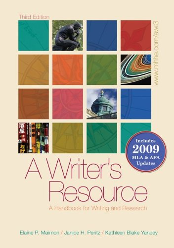 A Writer's Resource: A Handbook for Writing and Research 9780077368791