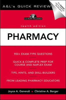 A&l's Quick Review Pharmacy [With CDROM] 9780071377478