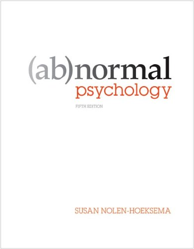 Abnormal Psychology 9780073382784