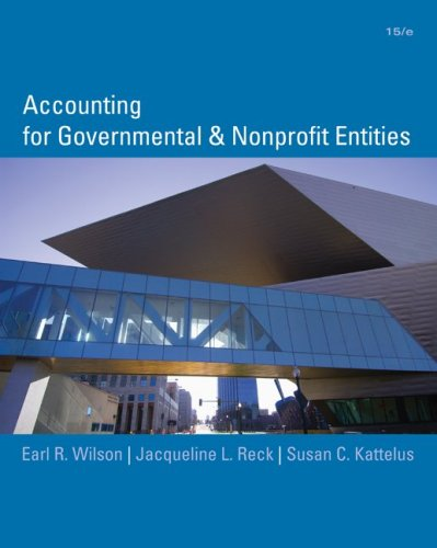 Accounting for Governmental and Nonprofit Entities 9780073379609
