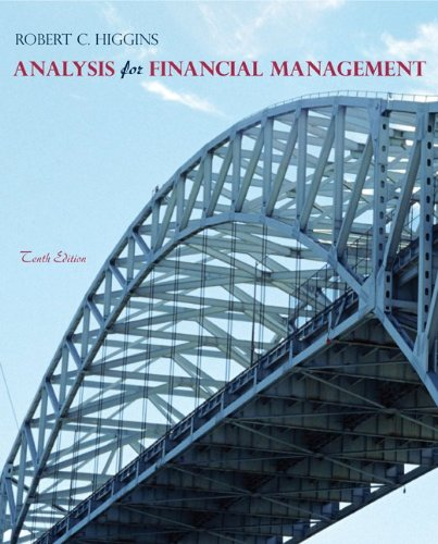 Analysis for Financial Management. Robert C. Higgins 9780078034688