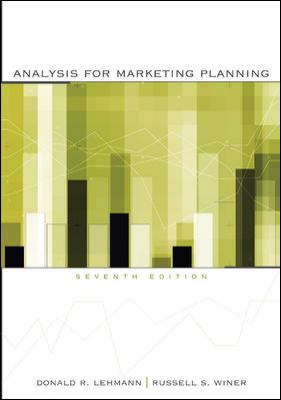Analysis for Marketing Planning 9780073529844