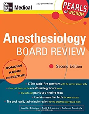 Anesthesiology Board Review: Pearls of Wisdom 9780071464123