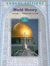 World History, Volume 1: Prehistory to 1500 278054