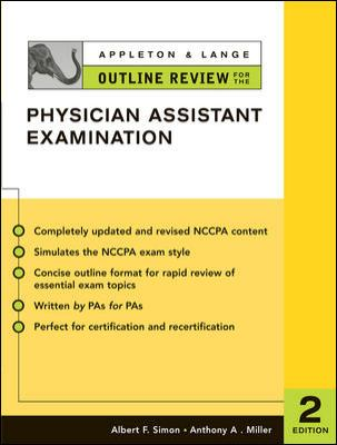 Appleton & Lange Outline Review for the Physician Assistant Examination, Second Edition 9780071402897