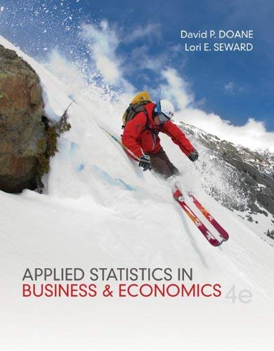 Applied Statistics in Business and Economics 9780073521480