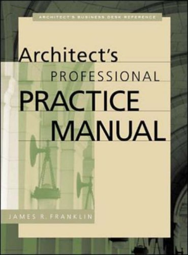 Architect's Professional Practice Manual 9780071358361
