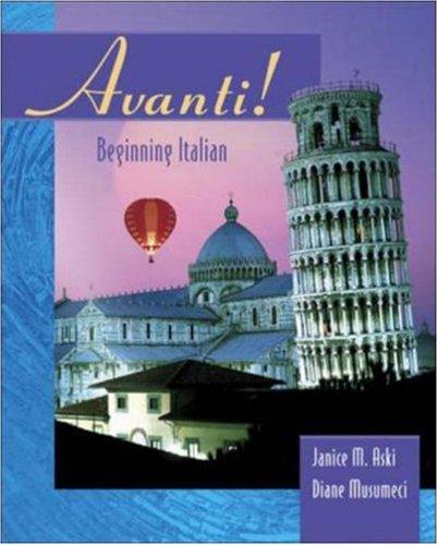 Avanti: Beginning Italian 9780072859836