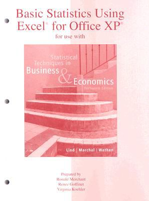Basic Statistics Using Excel for Office XP for Use with Statistical Techniques in Business & Economics 9780073030265