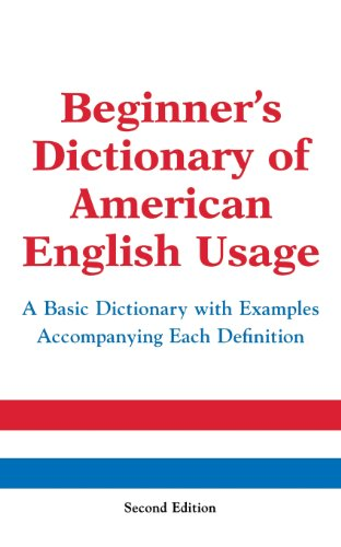 Beginner's Dictionary of American English Usage, Second Edition 9780071396554