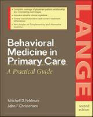 Behavioral Medicine in Primary Care 9780071383363