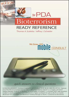 Bioterrorism Ready Reference for PDA 9780071409858