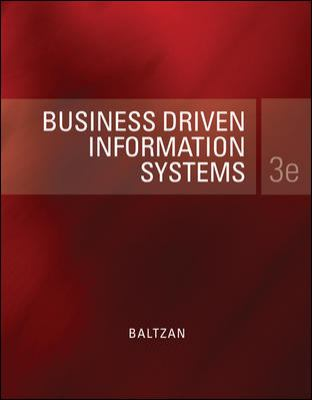 Business Driven Information Systems 9780077475284