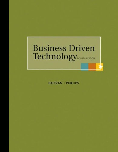 Business Driven Technology [With Access Code] 9780077359355