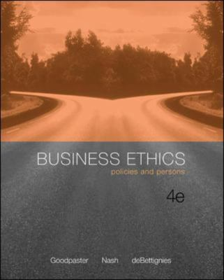 Business Ethics: Policies and Persons 9780072996906