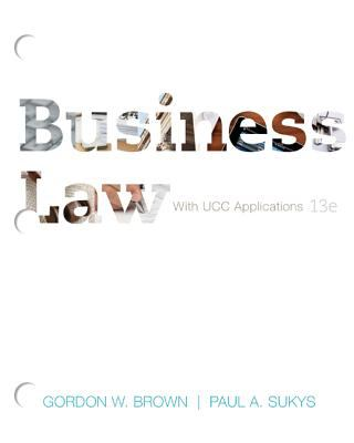 Business Law: With UCC Applications 9780077488826