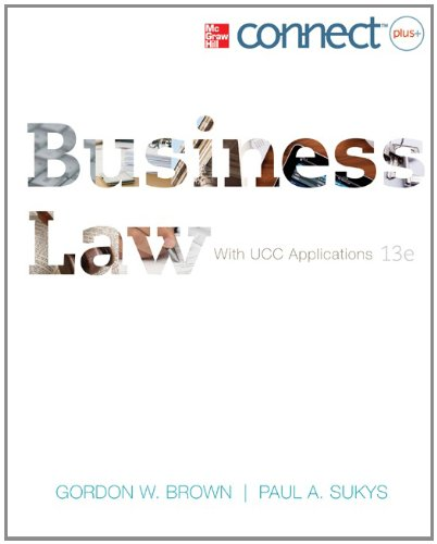 Business Law with Access Code 9780077630423
