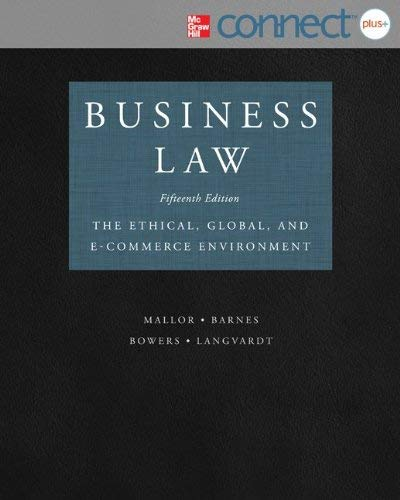 Business Law with Connect Plus 9780077630607