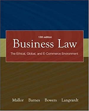 Business Law with Olc Card and You Be the Judge DVD (Vol 1 &2) 9780073271392