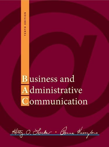 Business and Administrative Communication 9780073403182