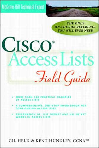 Cisco Access Lists Field Guide 9780072123357