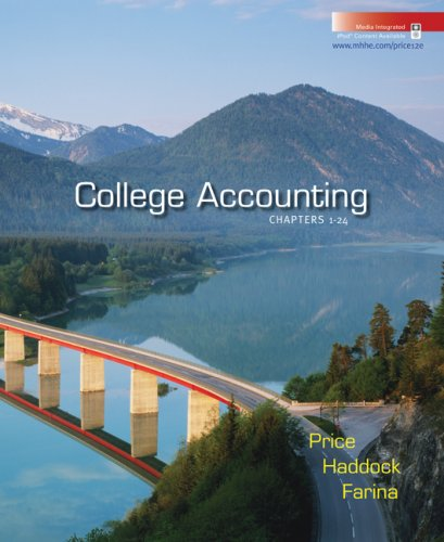 College Accounting, Chapters 1-24 9780073365503