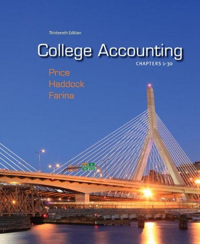 College Accounting, Chapters 1-30 9780078025273