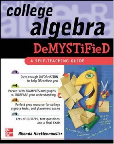 College Algebra Demystified 9780071439282