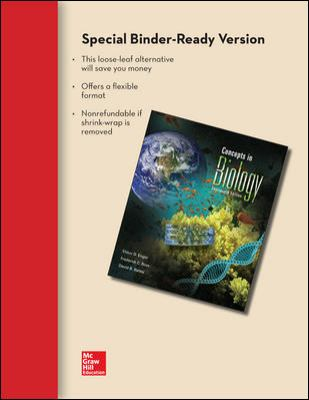 Combo: Loose Leaf Concepts of Biology W/ Connect Plus 1-Semester Access Card 9780077911324