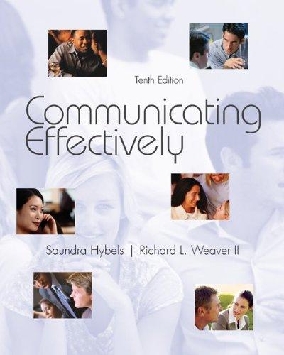 Communicating Effectively 9780073534336
