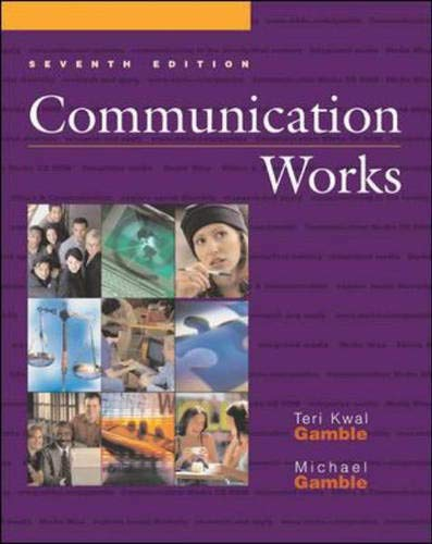 Communication Works with Communication Works CD-ROM 2.0, Media Enhanced Edition 9780072840988