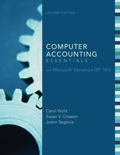 Computer Accounting Essentials with Microsoft Dynamics GP 10.0 [With DVD-ROM] 9780077299392
