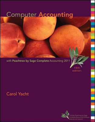 Computer Accounting with Peachtree Complete 2011, Release 19.0 9780078110986