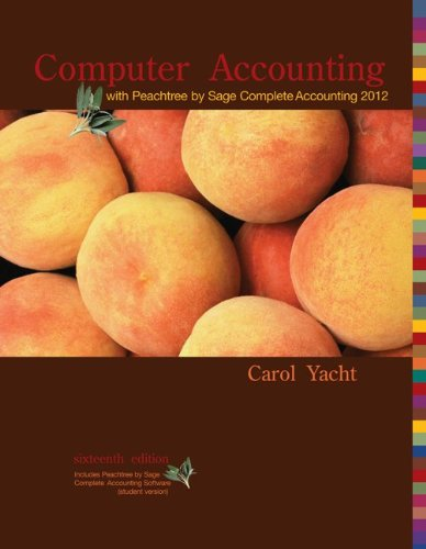 Computer Accounting with Peachtree Complete by Sage Complete Accounting 2012 CD 9780077634025