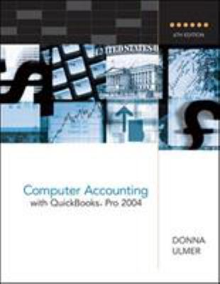 Computer Accounting with QuickBooks Pro 2004 9780072865530
