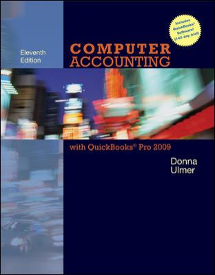 Computer Accounting with QuickBooks Pro 2009 [With CDROM] 9780077330705