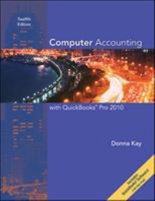 Computer Accounting with QuickBooks Pro 2010 9780073527154