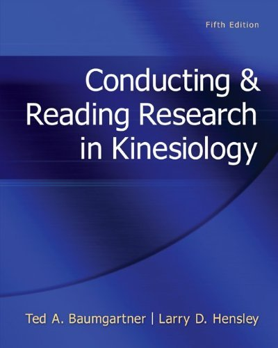 Conducting & Reading Research in Kinesiology 9780078022555