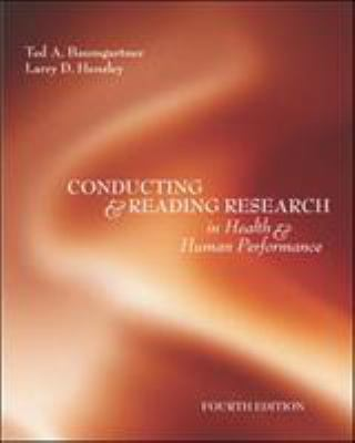 Conducting and Reading Research in Health and Human Performance 9780072972900