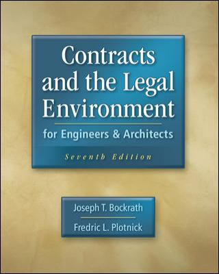 Contracts and the Legal Environment for Engineers and Architects 9780073397849