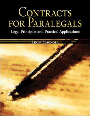 Contracts for Paralegals: Legal Principles and Practical Applications 9780073511764