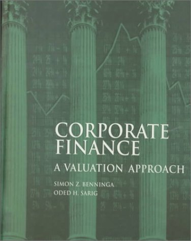 Corporate Finance : A Valuation Approach