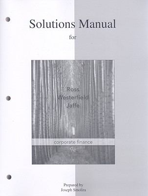 Corporate Finance: Solutions Manual 9780077246099