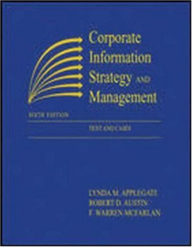 Corporate Information Strategy and Management 9780072456721