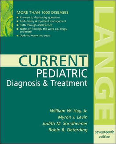 Current Pediatric Diagnosis & Treatment 9780071429603