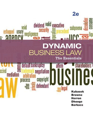 Dynamic Business Law: The Essentials 9780073524979