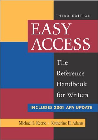 Easy Access with 2002 APA Update 9780072836615