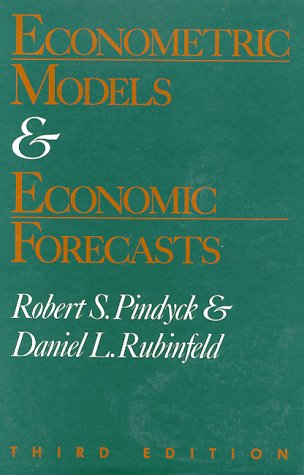 Econometric Models and Economic Forecasts 9780070500983